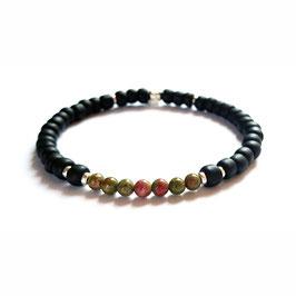 Bracelet Unakite - vert