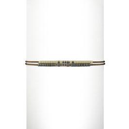 Bracelet cordon perles - Blanc