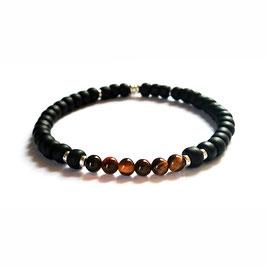 Bracelet Oeil de tigre - brun