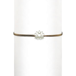 Bracelet cordon Lotus
