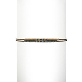 Bracelet cordon perles - Taupe