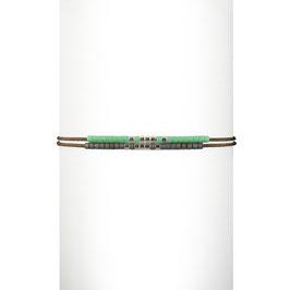 Bracelet cordon perles - Vert