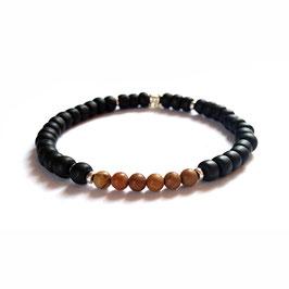Bracelet Woodstone - brun