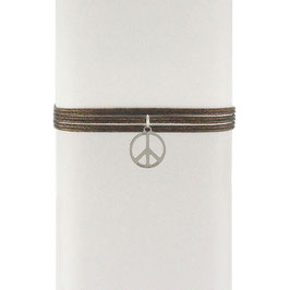 Collier cordon 2 en 1 Peace & Love