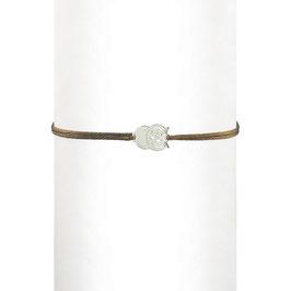 Bracelet cordon Hibou