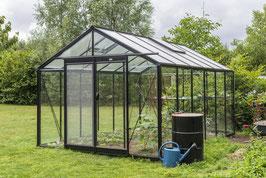 ACD Glas Gewächshaus R306H und XH (Extra Hoch) Retro RAL 9005 schwarz