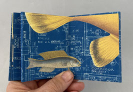 Artist Book:  Fish Swimming in the Deep Blue(print)