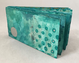 Artist Book:  Mixed Media Exploration on Aqua