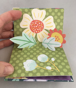 Artist Book:  Hello Spring! Pop Up Sampler