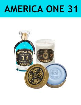 31 SET - AMERICA ONE 31 L'Eau de Parfum, la bougie parfumée, le Savon Noble
