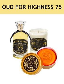 75 SET - OUD FOR HIGHNESS 75 El perfume, vela perfumada, jabón noble