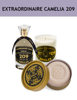 209 SET - EXTRAORDINAIRE CAMELIA 209 Das Parfüm, die Duftkerze, die edle Seife