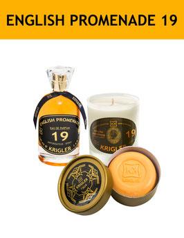 19 SET - ENGLISH PROMENADE 19 L'Eau de Parfum, la bougie parfumée, le Savon Noble