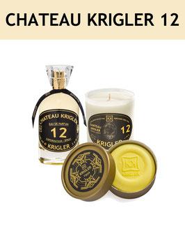 12 SET - CHATEAU KRIGLER 12 L'Eau de Parfum, la bougie parfumée, le Savon Noble