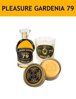 79 SET - PLEASURE GARDENIA 79 El perfume, vela perfumada, jabón noble