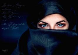 Wandbild Alu-Dibond Butlerfinish® Augen der Welt