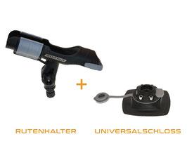 Set FASTen Rutenhalter + Universalschloss Grundschloss 110x100 mm für PVC Oberflächen