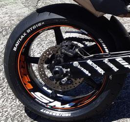 KIT VINILOS LLANTAS + SUPERMOTO KTM 990 SMR