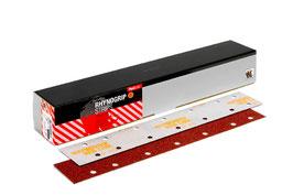 TIRAS RED LINE 70x420  P-220  14 agujeros.