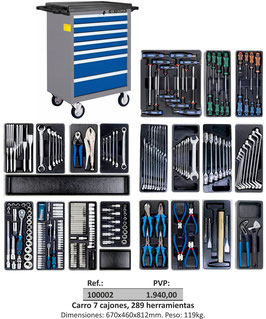 Carro 7 cajones, 289 herramientas