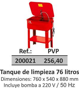 Tanque de limpieza 76 litros