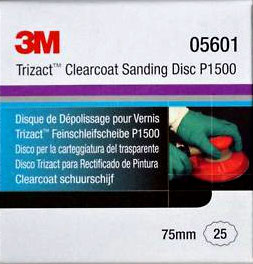 3M 05601 disco Trizact  P-1500 diametro 75mm  (25unds.)