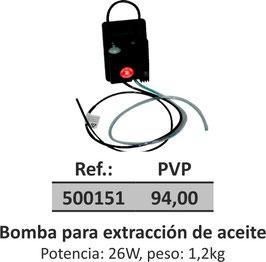 Bomba para extracción de aceite