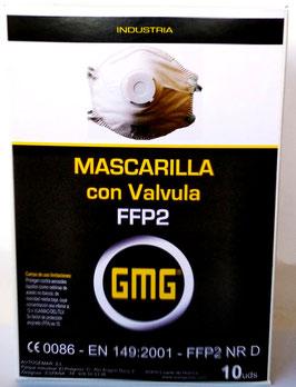 MASCARILLAS CON VÁLVULA FFP2 10 uds