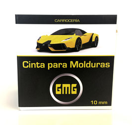 CINTA PARA MOLDURAS GMG Borde plastico 10mm. X 10mts