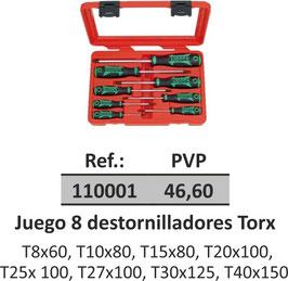 Juego 8 destornilladores Torx