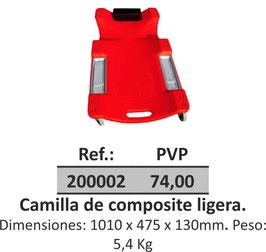 Camilla de composite ligera.