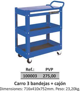 Carro 3 bandejas + cajón