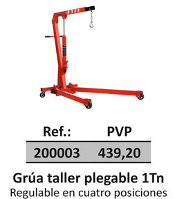 Grúa taller plegable 1Tn