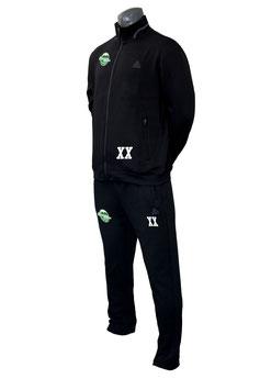 PEAK Sportanzug schwarz mit Logo und Initialen