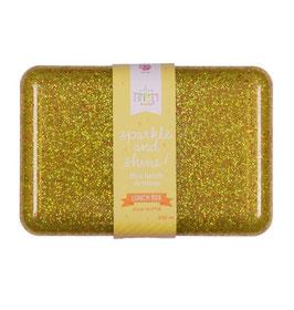 A little lovely Company Brotdose 'Glitzer, gold'