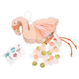 Meri Meri Mini Pinata 'Flamingo' (gefüllt)