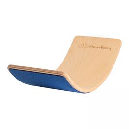 MeowBaby® Balanceboard Balancierbrett 80x30 cm FILZ, blau