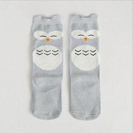 Socken 'Eule' grau