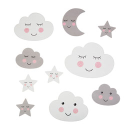 Sass & Belle Wandsticker 'Wolken, Sterne, Mond'