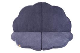 MeowBaby® Wolke Spielmatte Spielteppich für Kinder, dunkelgrau