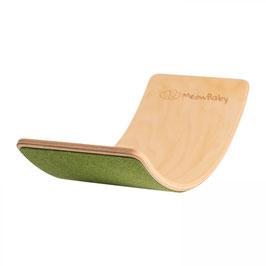 MeowBaby® Balanceboard Balancierbrett 80x30 cm FILZ, grün