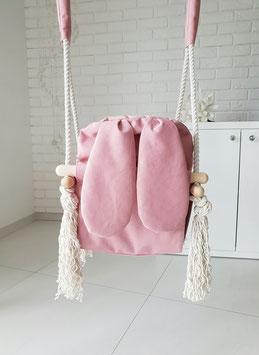MiiiMi Babyschaukel 'Bunny' rosa