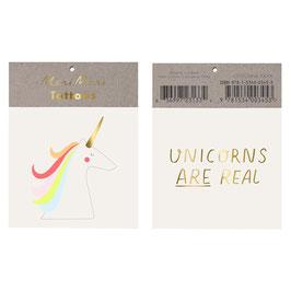 Meri Meri Tattoos 'Unicorns are real'