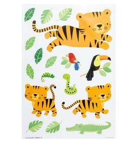 a little lovely Company Wandsticker 'Dschungel Tiger'