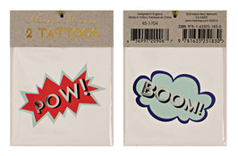 Meri Meri Tattoos 'Pow, Boom'