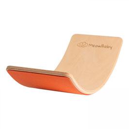 MeowBaby® Balanceboard Balancierbrett 80x30 cm FILZ, orange