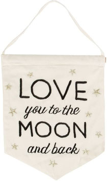 Sass & Belle Wimpel 'Love you to the moon and back'