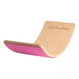 MeowBaby® Balanceboard Balancierbrett 80x30 cm FILZ, pink