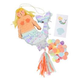Meri Meri Mini-Pinata 'Meerjungfrau' (gefüllt)