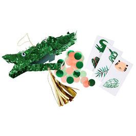 Meri Meri Mini-Pinata 'Krokodil' (3-er Set, gefüllt)